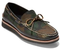 Cole Haan Pinch Rugged Camouflage Leather & Canvas Boat Shoes