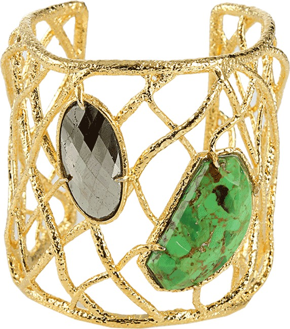 Alexis Bittar Woven/Two-Stone Cuff