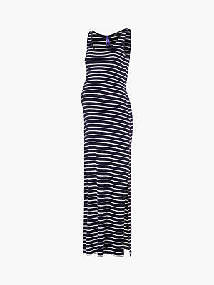 453f77b1e6c2b Magda Séraphine Stripe Maxi Maternity Dress, Blue