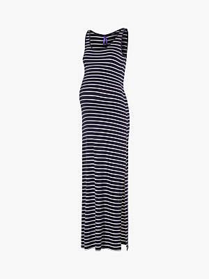 14e035bafdc4f Magda Séraphine Stripe Maxi Maternity Dress, Blue