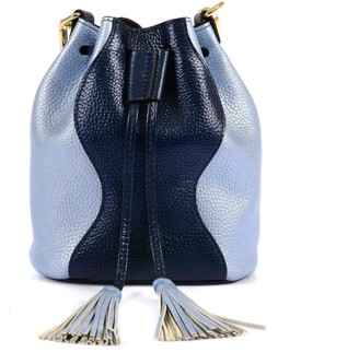 Atelier Hiva Mini Rivus Leather Bag Navy Blue & Baby Blue