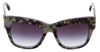 Dolce & Gabbana Floral Print Wayfarer Sunglasses