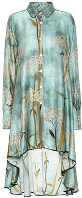 F.R.S For Restless Sleepers Mercurio satin-cloque shirt dress