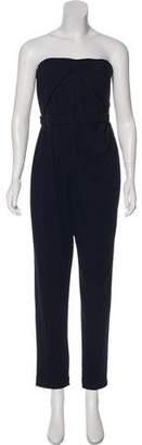 Halston Strapless Belted Jumpsuit