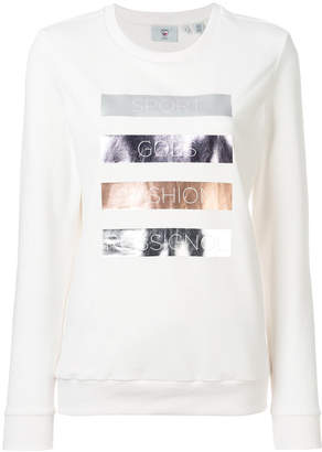 Rossignol logo stripe print sweatshirt