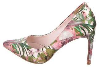 Ted Baker Satin Pointed-Toe Pumps