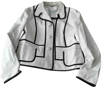 Laurèl White Leather Jacket for Women