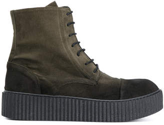 Rundholz creeper sole lace-up boots