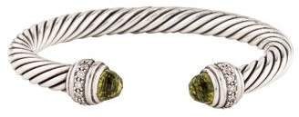 David Yurman Quartz & Diamond Cable Classics Bracelet