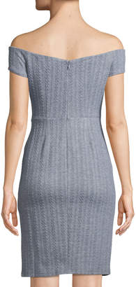 Ali & Jay Won't Be Silenced Off-the-Shoulder Bodycon Dress