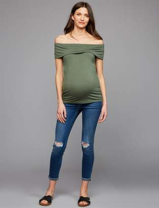 Joe's Jeans Secret Fit Belly Markie Crop Maternity Jeans