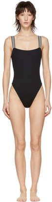 Solid and Striped Black The Riley One-Piece Swimsuit