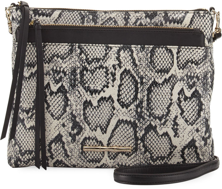 Elaine Turner Mara Python-Embossed Shoulder Bag
