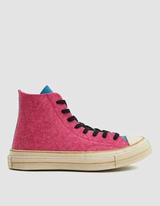 Converse JW Anderson Felt Chuck 70 Hi Sneaker in Fuschia Purple/Island Gr