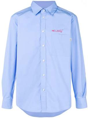 MSGM stitch detail shirt