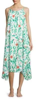 Kate Spade Floral Print Maxi Cover-Up Dress