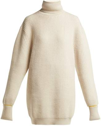 Maison Margiela Oversized wool-blend roll-neck sweater