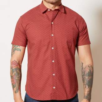 Blade + Blue Red Japanese Mini Wave Print Shirt - NATHAN