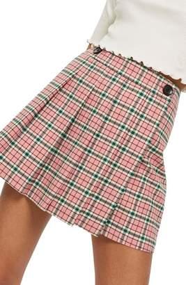 Topshop Summer Check Kilt Miniskirt