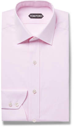 Tom Ford Pink Slim-Fit Cotton-Poplin Shirt