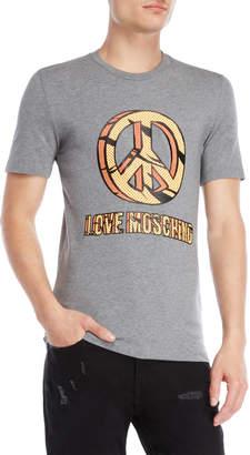 Love Moschino Peace Love Logo Tee