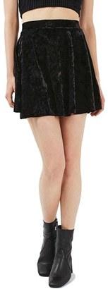 Women's Topshop Velvet Skater Skirt $35 thestylecure.com