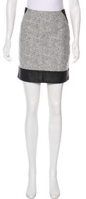 Richard Nicoll Leather-Trimmed Colorblock Skirt