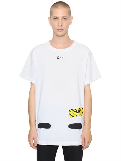 Spray Stripes Cotton Jersey T-Shirt 3
