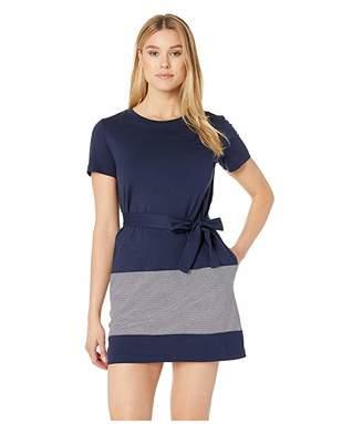 Lacoste Short Sleeve Striped Jersey Cotton T-Shirt Dress