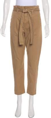 Frame High-Rise Straight-Leg Pants w/ Tags