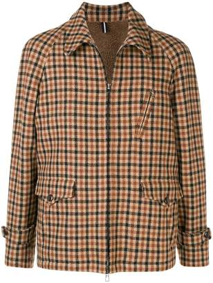 Lardini checked shirt jacket