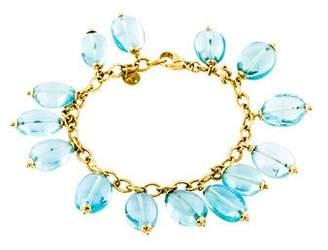 Syna 18K Aquamarine Bead Bracelet