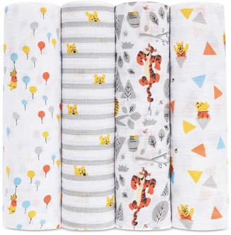 Aden Anais aden by aden + anais 4-Pk. Winnie the Pooh Cotton Swaddle Blankets, Baby Boys & Girls