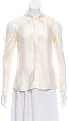 Alexis Button-Up Cold-Shoulder Top w/ Tags