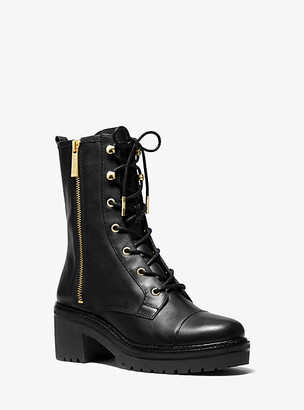 Michael Kors Anaka Leather Combat Boot