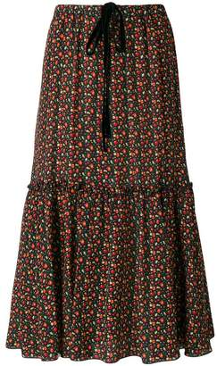 A.P.C. tiered cherry print skirt