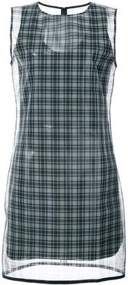 Helmut Lang checked printed dress