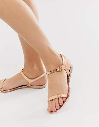 Asos Design DESIGN Flame flat sandals