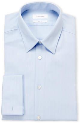 Calvin Klein Afternoon Sky Herringbone Slim Fit Dress Shirt