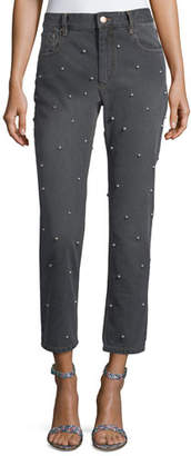 Etoile Isabel Marant Califfy Studded High-Rise Denim Jeans