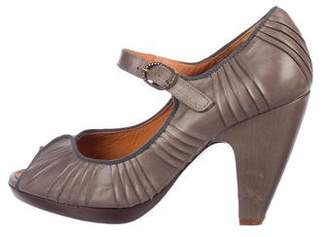 Chie Mihara Leather Mary Jane Pumps