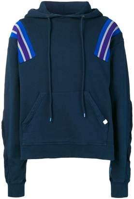 Facetasm oversized stripe detail hoodie
