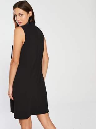 Wallis Hotfix Collar Shift Dress - Black