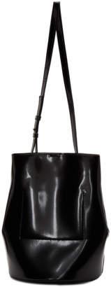 Jil Sander Navy Black Faux-Leather Bucket Bag