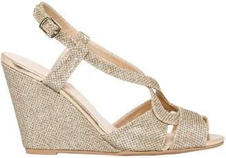 Le Château Women's Glitter Mesh Wedge Sandal