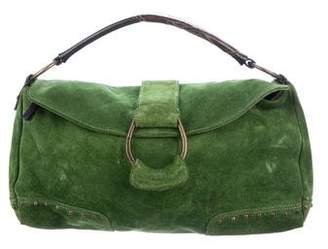 Francesco Biasia Studded Suede Handle Bag