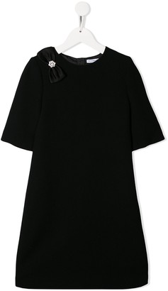 Dolce & Gabbana bow embellished shift dress