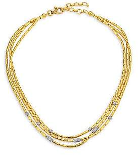Gurhan Women's Vertigo Pavé Triple Strand Diamond Pavé Necklace