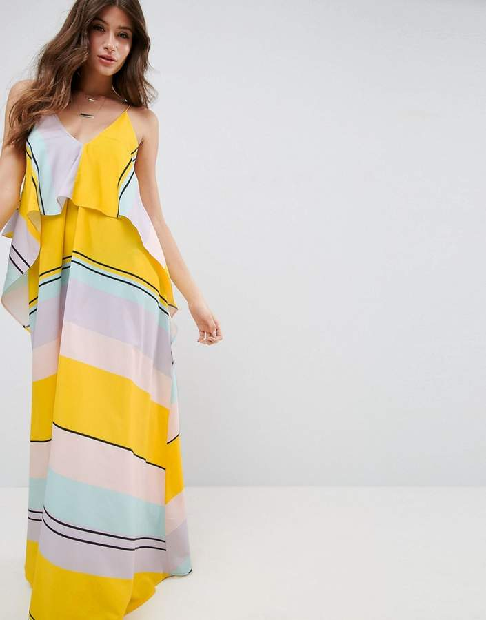 AsosASOS Stripe Crop Top Maxi Dress