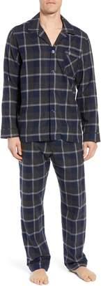 Majestic International Dark & Stormy Flannel Cotton Pajama Set